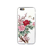 Chinese Style Painting Peony TPU Soft Case for iPhone 6/6S