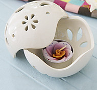 Large White Butterfly Thailand Ceramics Candle Holder