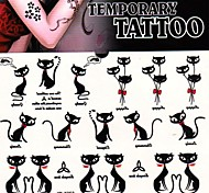 1Pc Mini Cat Kitten Fox Tattoo Stickers Temporary Tattoos