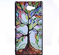 The Color Tree Pattern PC Hard Back Case for Sony Xperia M2 S50h