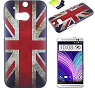British Flag Pattern PC Hard Case and Phone Holder for HTC One(M8)