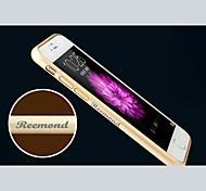 Gravur exquisite Metallstoßfeld-Oberteil für 4,7-Zoll-iphone 6 (Gold, Silber, schwarz, pink)