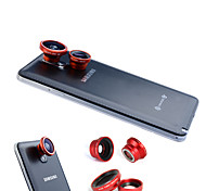 3-In-One Magnetic 180°Fish Eye Lens and Wide Angle with 0.67X Macro Lens for Samsung Mobile Phone
