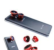 3-In-One Magnetic 180 °-Fischaugen-Objektiv und Weitwinkel mit 0.67X Makroobjektiv für Samsung Handy