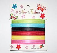 3/8 di pollice dot inchiostro da stampa nastro poliestere colore buty cinque punti obliquo ribbon- 1 yarde per rullo (sei colori una carta)