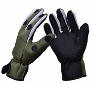 Trulinoya Waterproof Anti-Slip Breathable Fishing Gloves Army Green Color