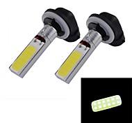 10W 380LM 4-LED White Light Car Fog Lamp High Brightness(2-Piece Pack)