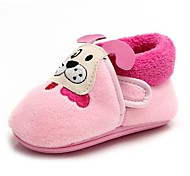 BBGOBBWORLD The New Baby Coral Fleece and Thicken Cotton Shoes Non-skid Bottom Boots