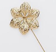 flor de la boda de oro traje de solapa de la camisa ramillete pin palo broche