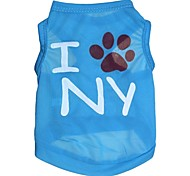 "lovely ""i ny"" Muster terylene Weste für Hunde (verschiedene Größen)"