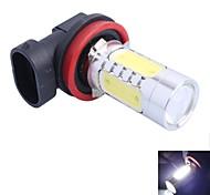 gc® h11 11w 1-Cree XP-e y 4-llevados mazorca 600lm 6000k led blanco para lámpara foglight coche (DC12-24V)