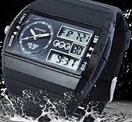 Men's Watch Fashion Water Resistant Analog-Digital Square Dial Rubber Band Sports Watch(Assorted Colors)