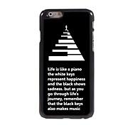 la vida es como una caja de piano diseño de aluminio para el iphone 6 más
