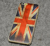 The UK flag Style Painted Relief Plastic Hard Back Cover for iPhone 6 Plus