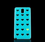 caso duro del patrón de corazón de oro para Samsung Galaxy Note 3