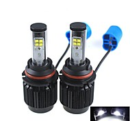 CONQUER® 2PCS  20W 2000-4000Lumens 9004 High Power High Brightness Cree LED Headlight for Car