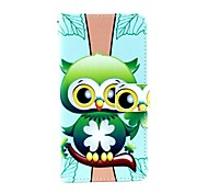 KARZEA™Green Owl Pattern PU Leather Case with Screen Protector and Stylus and Dust Plug for Sony Xperia Z3(L55T)