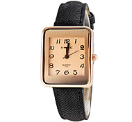 Women's Square Khaki Dial PU Band Quartz Wristwatch (Assorted Colors)