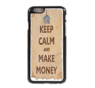 Keep Calm and Make Money Design  Aluminum Case for iPhone 6