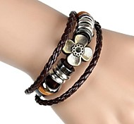 Bracelet/Strand Bracelets / Friendship Bracelets / Wrap Bracelets / Vintage Bracelets / Leather Bracelets Alloy / LeatherParty / Daily /
