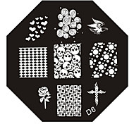 Nail Art Stempel Stamping Schablone Platte d Serie Nr.6