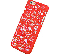 Cartoon Pattern Dull Polish Hard Case for iPhone 6 (Assorted Color)