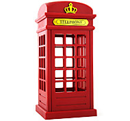 5W LED Vintage Telephone Booth Touch Adjust Brightness Charge Small Night Table Lamp 220V