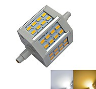 R7S 5W 24 SMD 5730 350-450 LM Warm White / Cool White T LED Corn Lights AC 85-265 V