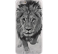 Black And White Lion Pattern Case for iPhone 6