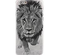 caso del patrón de león blanco y negro para el iphone 6