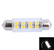 GC®  41mm 1.5W 100LM 3000K 8x3528 SMD Warm White LED for Car Reading / License Plate / Door Lamp (DC12V)