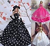 3 Pcs Barbie Doll Royal Banquet Evening Party Dress