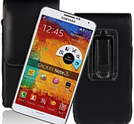 Genuine PU Cowhide Leather Flip Wallet Vertical Case Belt Clip Pouch Cover Jacket for Samsung Galaxy Note 3