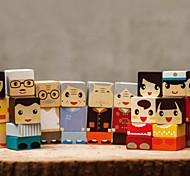benho Bausteine Gummi Holz Familie Holzspielzeug