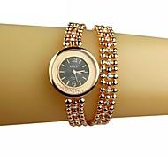 Women's Drift Sand Round Dial Long Bracelet Quartz Bracelet Watch(Assorted Colors)