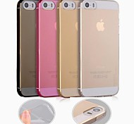 df 0,3 mm ultraminces TPU étui transparent souple pour iPhone 5 / 5s (couleurs assorties)