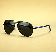aviateur polarisée alliage lunettes de soleil rétro