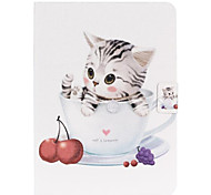 Lovely Cat Pattern PU Leather Full Body Case for Samsung Galaxy Tab 3 10.1 P5200