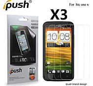 High Transparency HD LCD Screen Protector for HTC One X (3 Pieces)