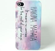 Musterbrief Hakuna Matata Muster harte Fallabdeckung für iPhone 4 / 4S