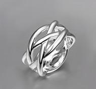 2016 Cheaper Mesh Fashion Women 925 Sterling Silver Statement Ring