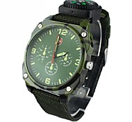 Men's Military Style Round Dial  Nylon Band Quartz Analog Wrist Watch(Assorted Colors) Cool Watch Unique Watch