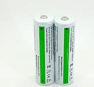 ICR 18650 3.7V Li-ion Rechargeable Battery 2600mAh (2pcs)