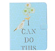 Bird Pattern PU Wallet Leather Case with Stand for iPad 2/3/4