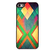 Yellow Rhombus Design Aluminium Hard Case for iPhone 4/4S