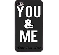 Personalized Phone Case - You & ME Design Metal Case for iPhone 4/4S