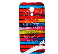 Colors of Rainbow Pattern TPU Soft Case for Motorola MOTO G2