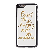 To Be Happy Design Aluminum Case for iPhone 6