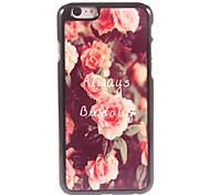 Always Blooming Steel Roses Design Aluminium Hard Case for iPhone 6