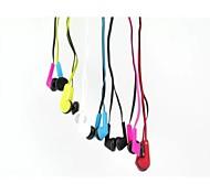 x40 couleur de gelée de style écouteurs intra-auriculaires pour iPhone et autres (couleurs assorties)